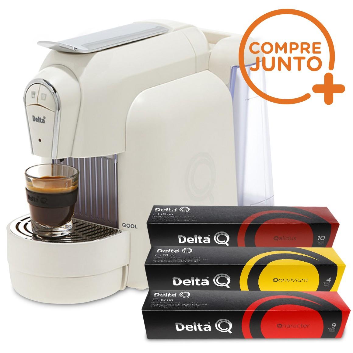 Cafeteira Expresso Automática Qool Delta Q Branca 110 v + 30 Cápsulas