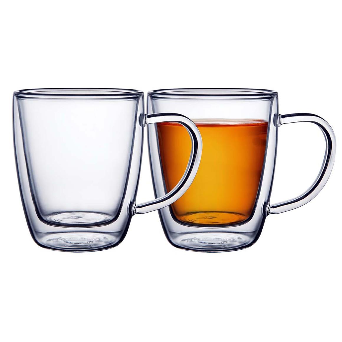 Conjunto de Xícaras para Chá ou Cappuccino em Vidro Duplo Tramontina - 2 un