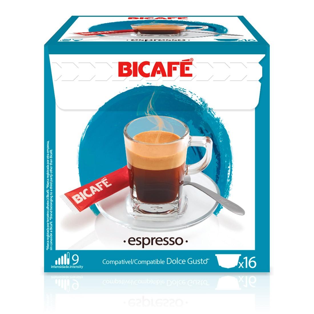 Cápsulas Compatível Dolce Gusto Espresso Bicafé - 16 un