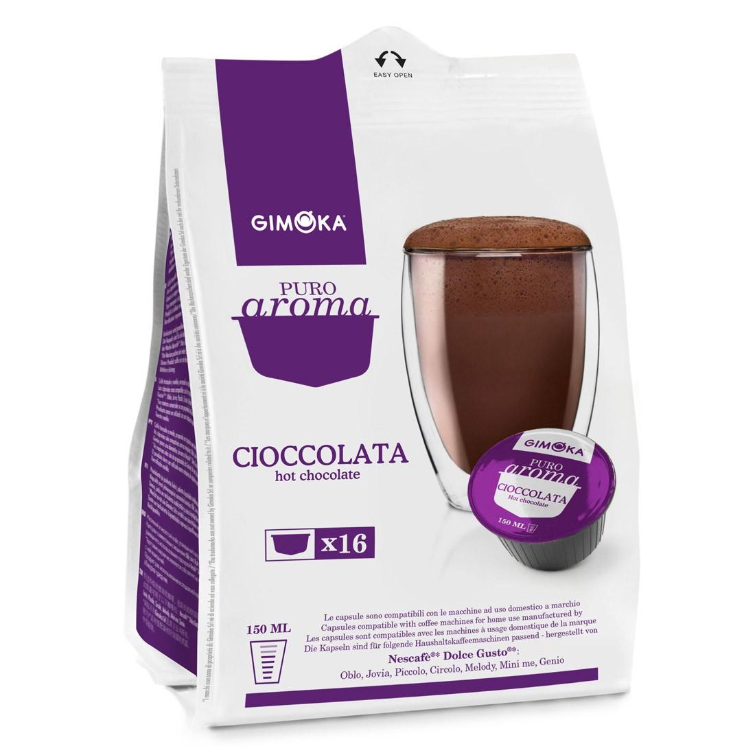Cápsulas Compatível Dolce Gusto Cioccolata Gimoka - 16 un