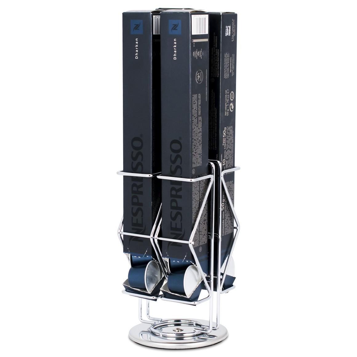 Porta Cápsulas Nespresso Silver - 4 Caixas