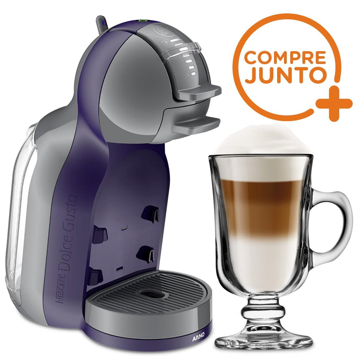 Cafeteira Expresso Dolce Gusto Mini Me Automática Roxa 110v + 1 Taça de Café Mini Bill 120ml