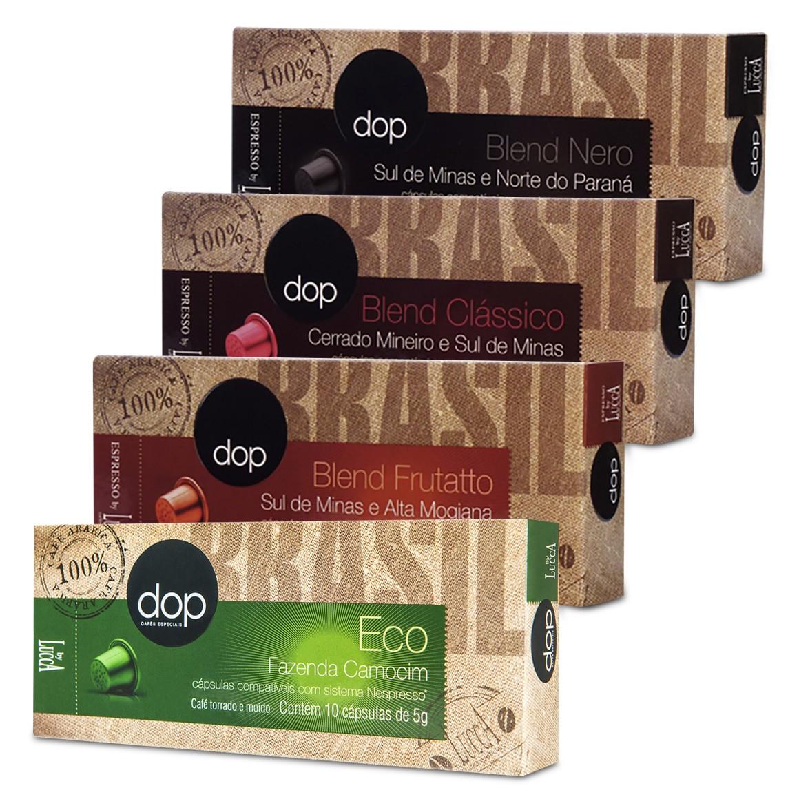 Kit Cápsulas de Café Compatíveis com Nespresso Dop 40 un