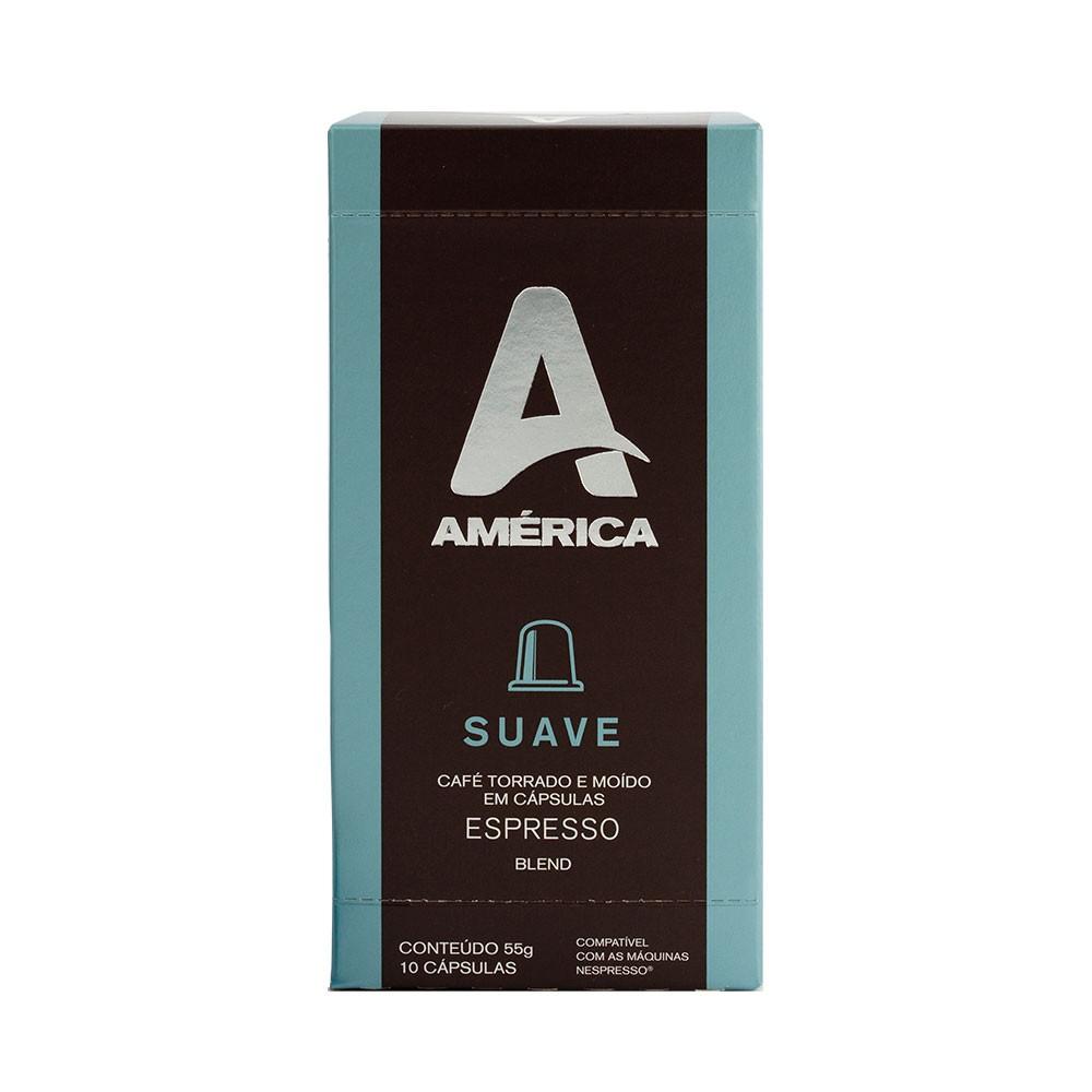 Cápsulas de Café América Suave - Compatíveis com Nespresso® - 10 un.