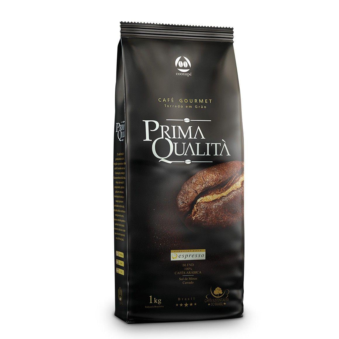 Café Expresso em Grãos Gourmet Prima Qualità 1kg