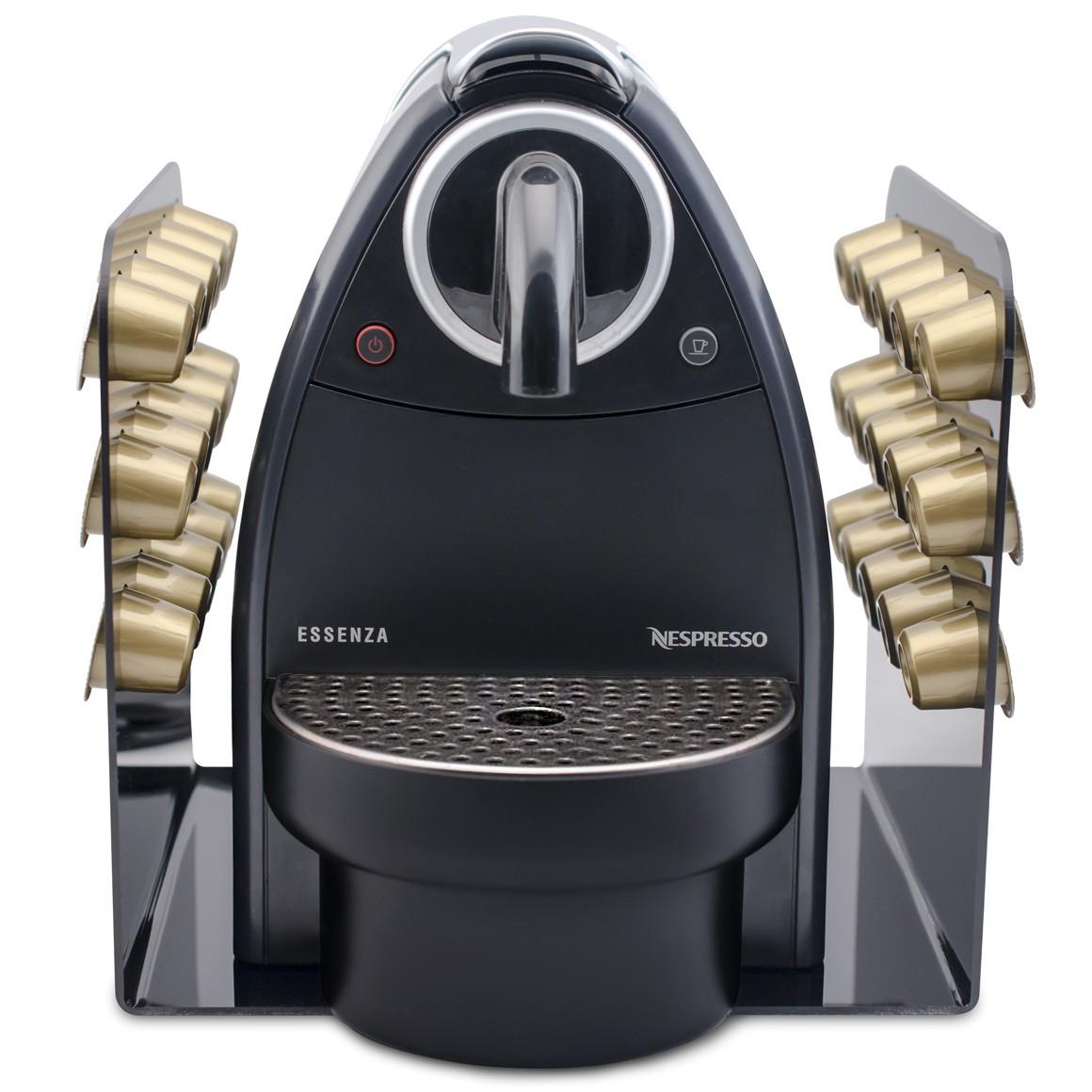 Porta Cápsula Acrílico Nespresso Preto - 30 un.
