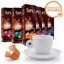 Kit 60 Cápsulas Espressos Três Corações Ganhe 1 Xícara de Porcelana com Pires 70ml