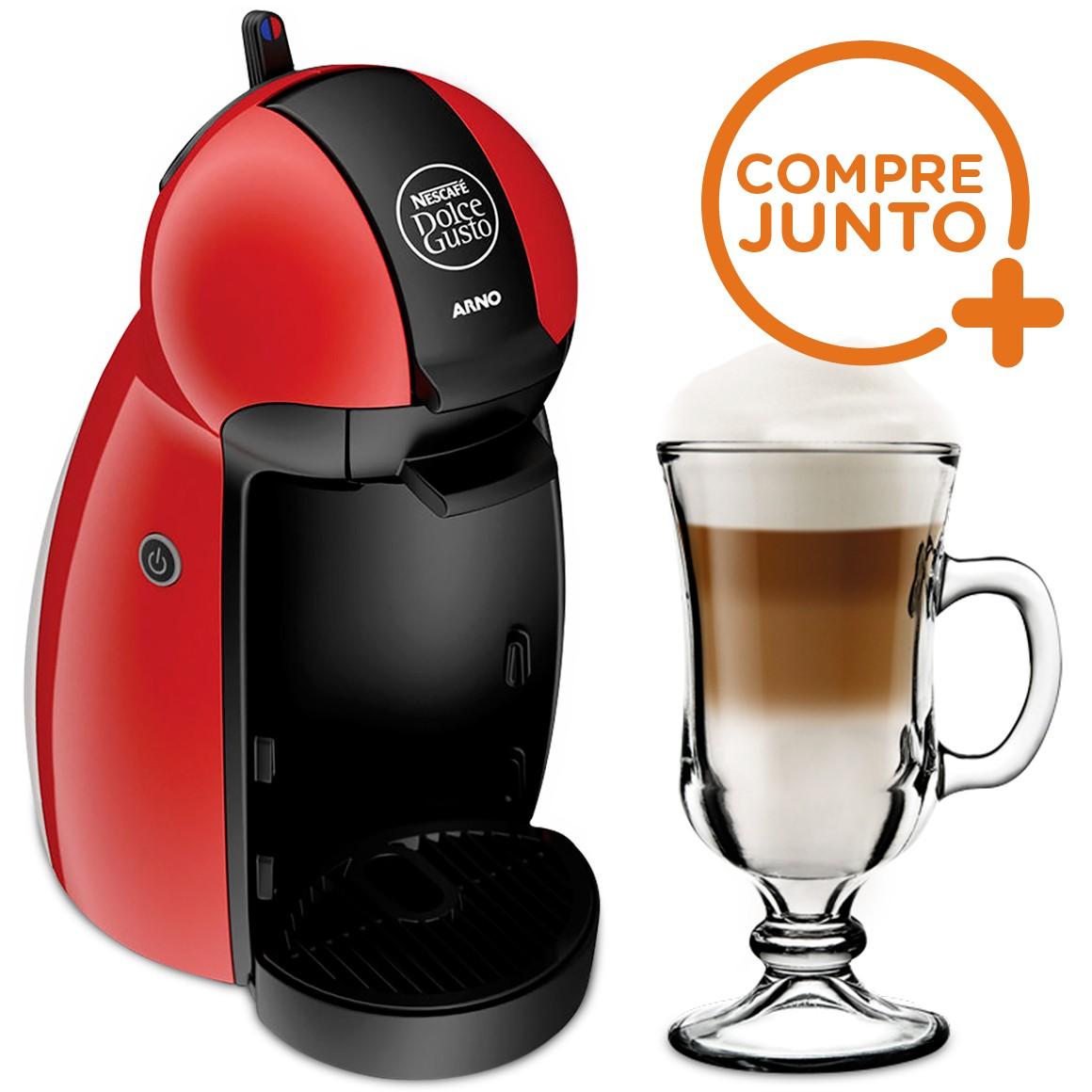 Cafeteira Expresso Dolce Gusto Piccolo Vermelha 110v + 1 Taça Nevada Irish Coffee 130ml