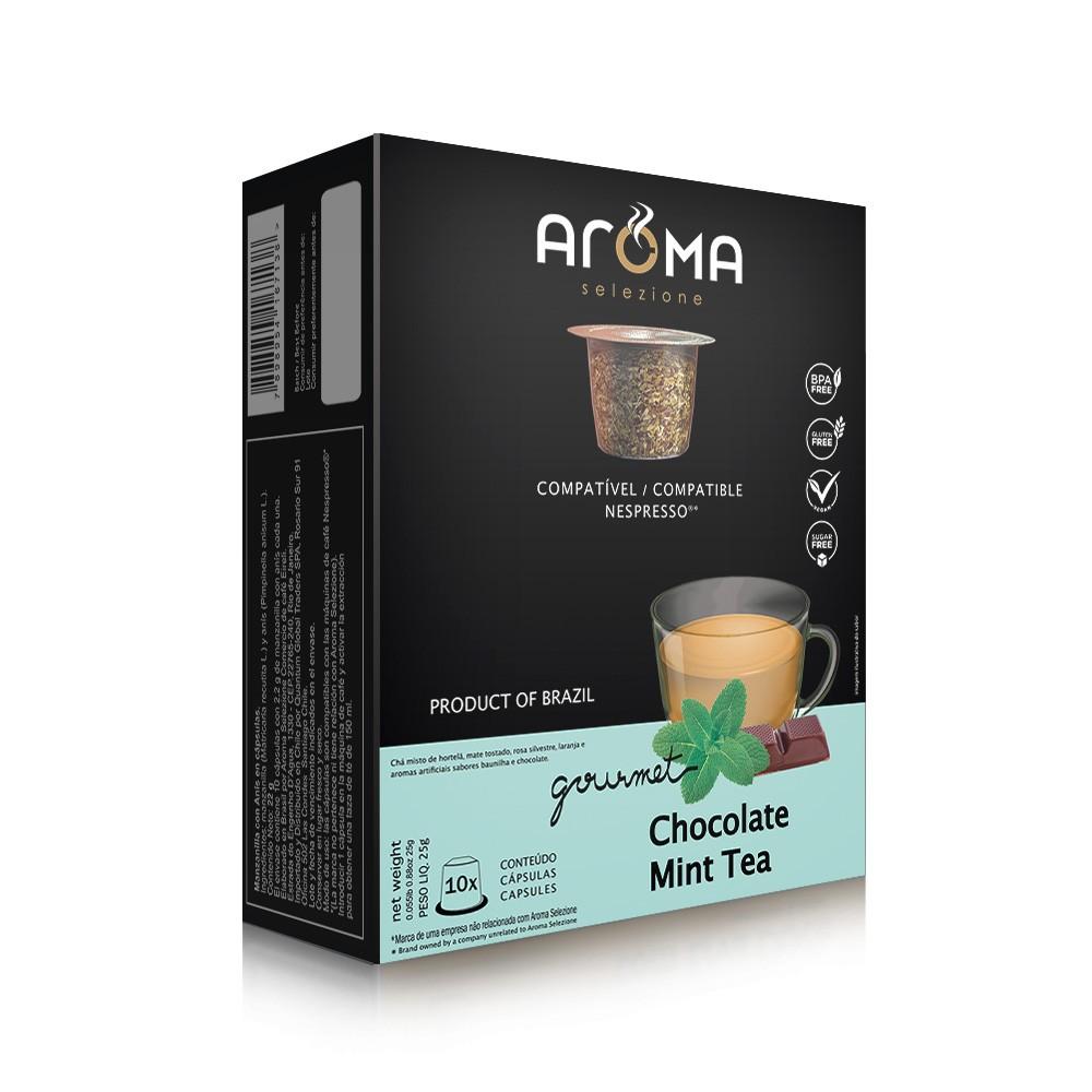 Cápsulas de Chá Menta com Chocolate Aroma - Compatíveis com Nespresso® - 10 un.