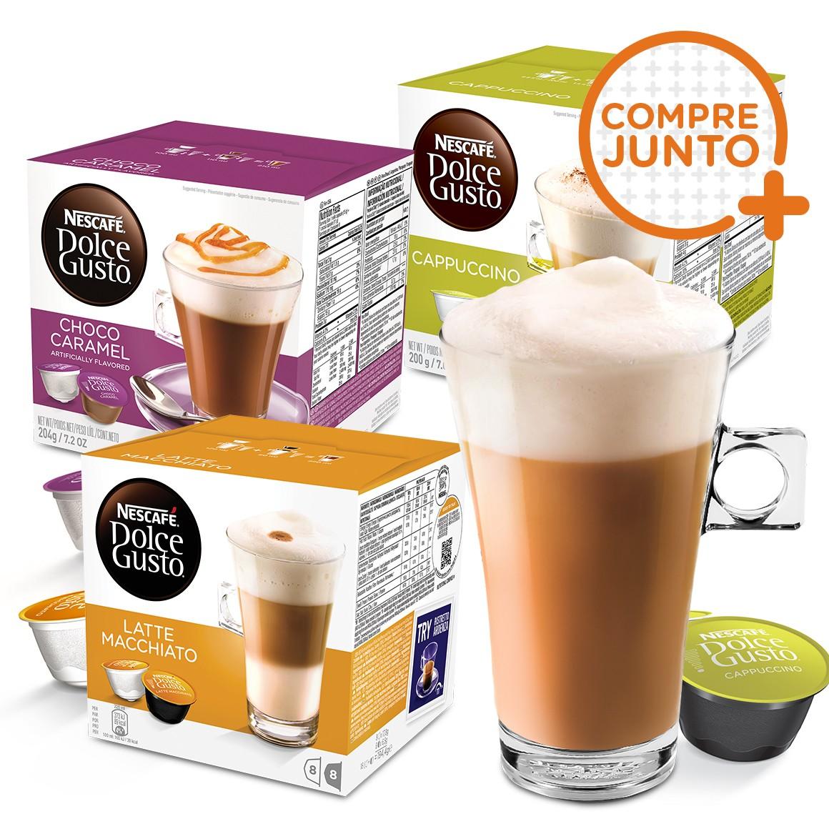 Kit 48 Cápsulas Nescafé Dolce Gusto Nestlé + 1 Taça de Café Dolce Gusto 268ml