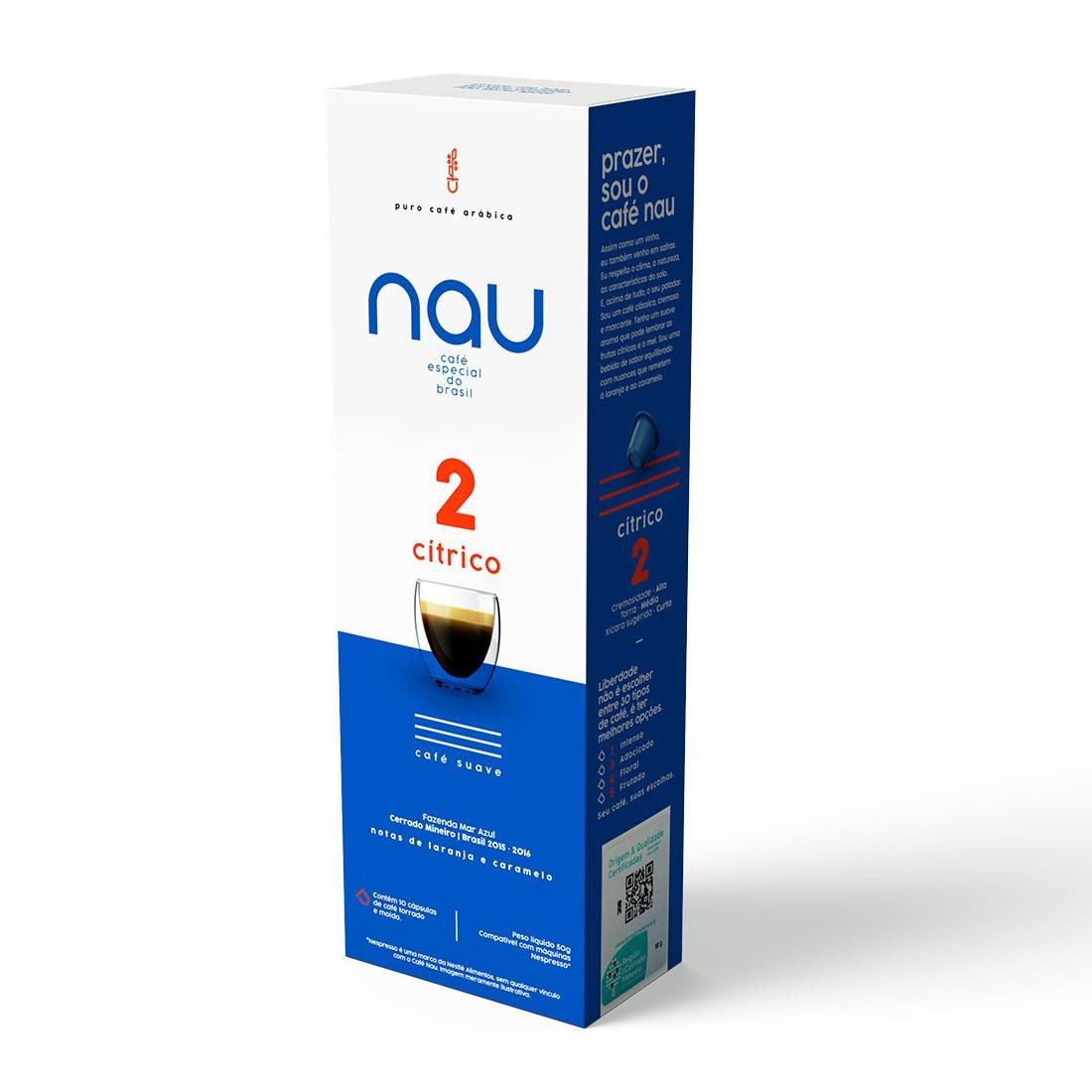 Cápsulas de Café Compatíveis com Nespresso Nau - 2 Cítrico