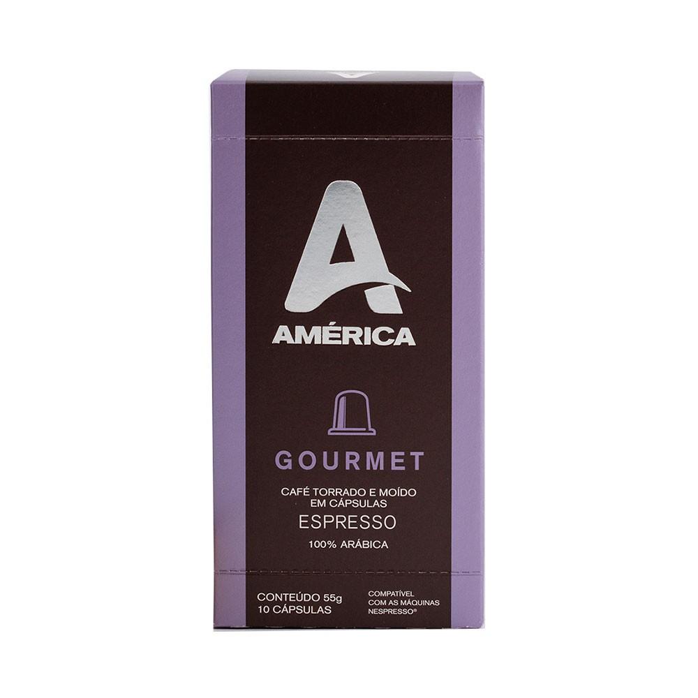 Cápsulas de Café América Gourmet - Compatíveis com Nespresso® - 10 un.