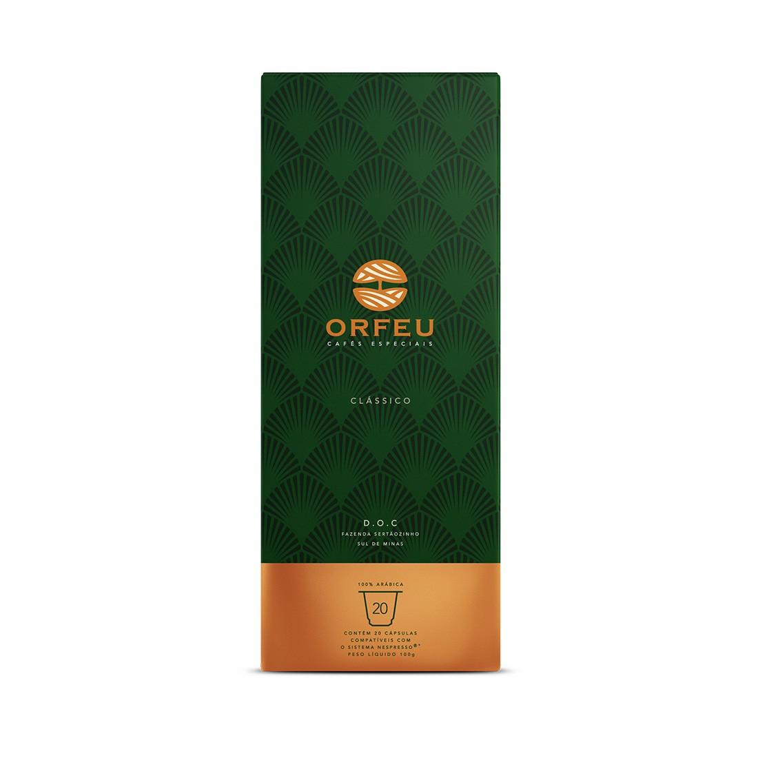 Cápsulas de Café Compatíveis com Nespresso Orfeu Blend Gourmet - 20 cápsulas