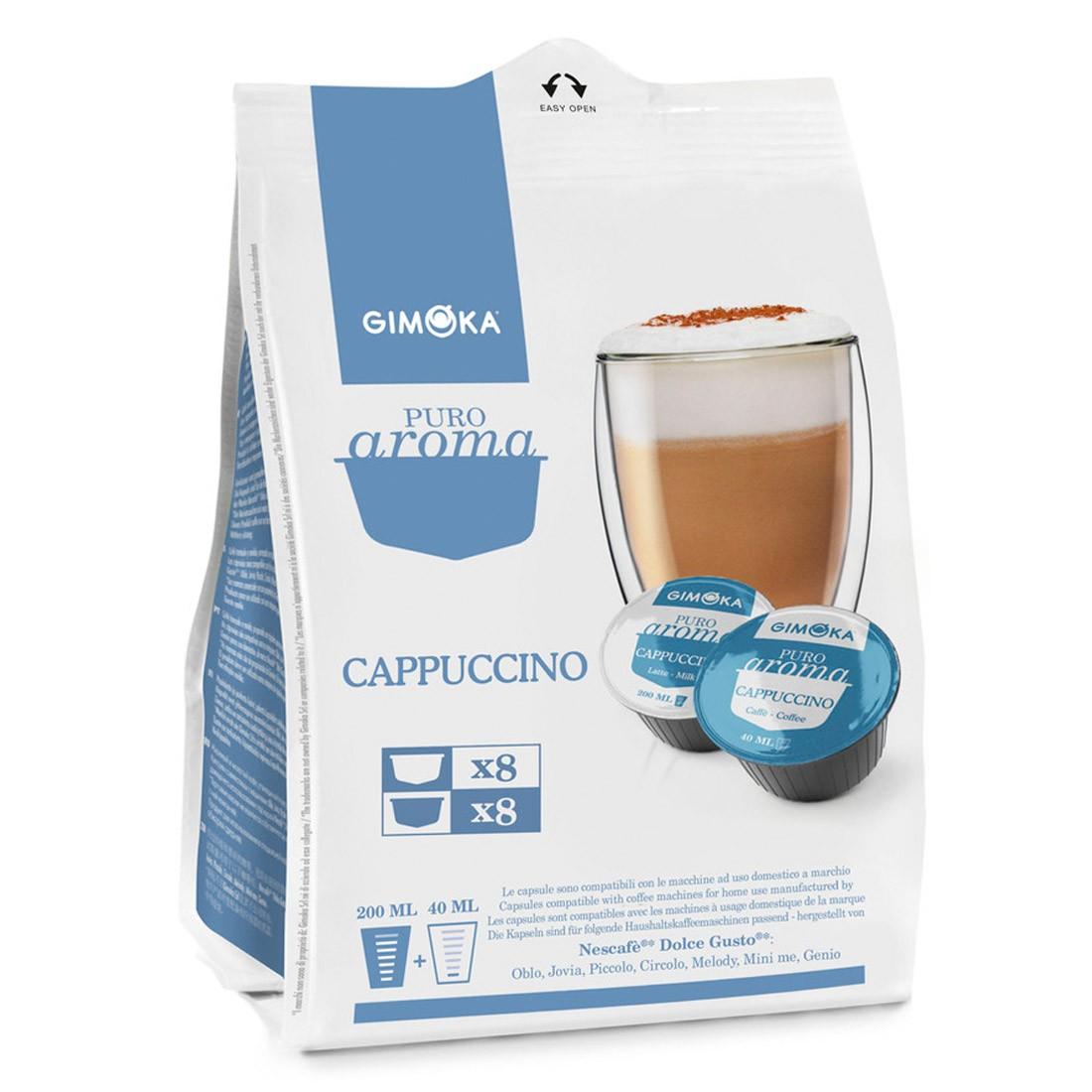 Cápsulas Compatível Dolce Gusto Cappuccino Gimoka - 16 un