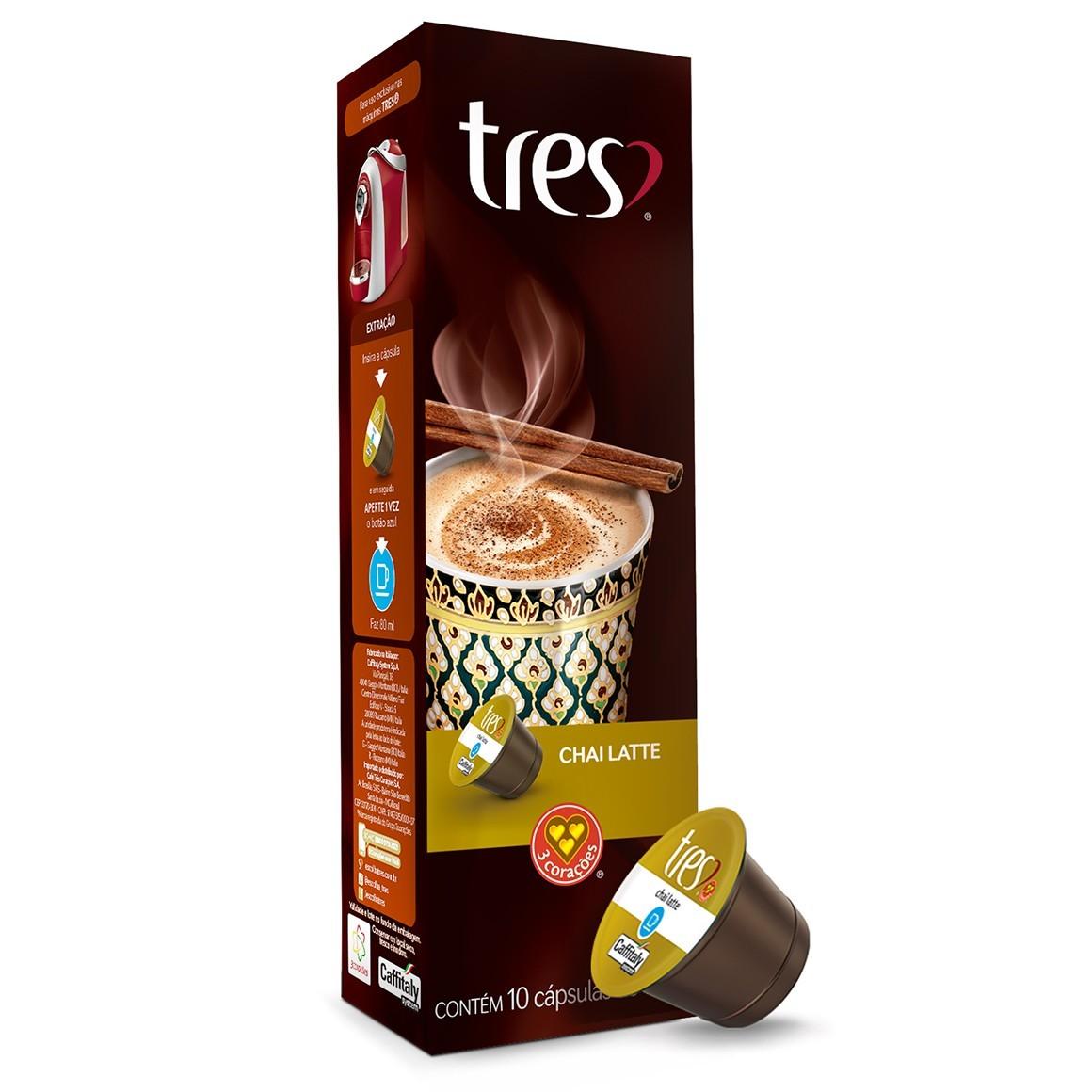 Cápsulas de Chá Chai Latte 3 Corações - 10 un