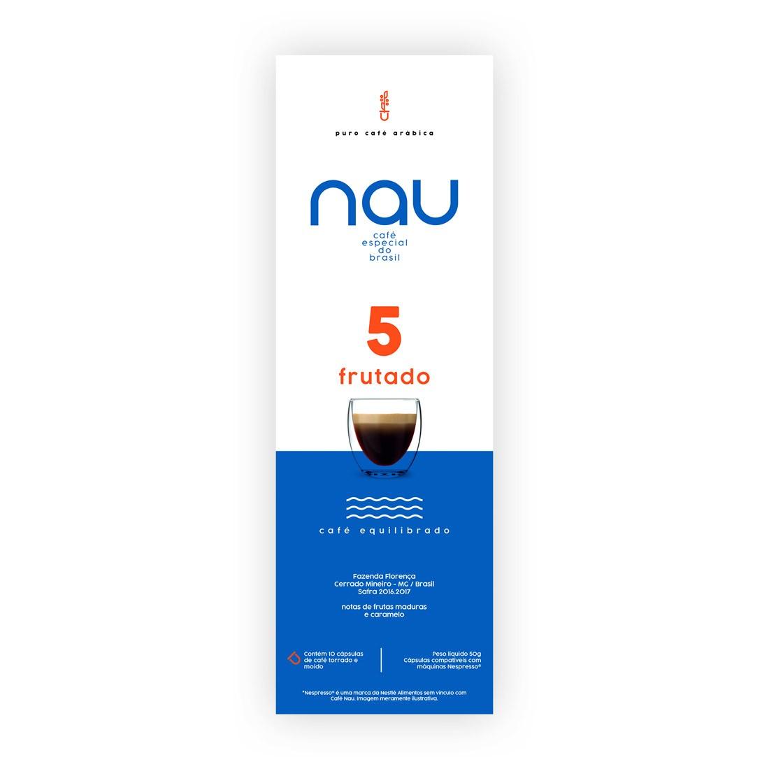 Cápsulas de Café Café Nau Frutado - Compatíveis com Nespresso® - 10 un.