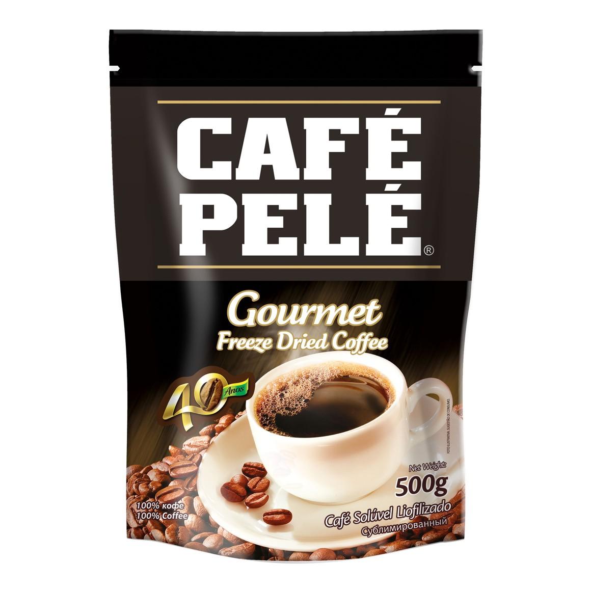 Café Pelé Solúvel Gourmet Liofilizado 500gr