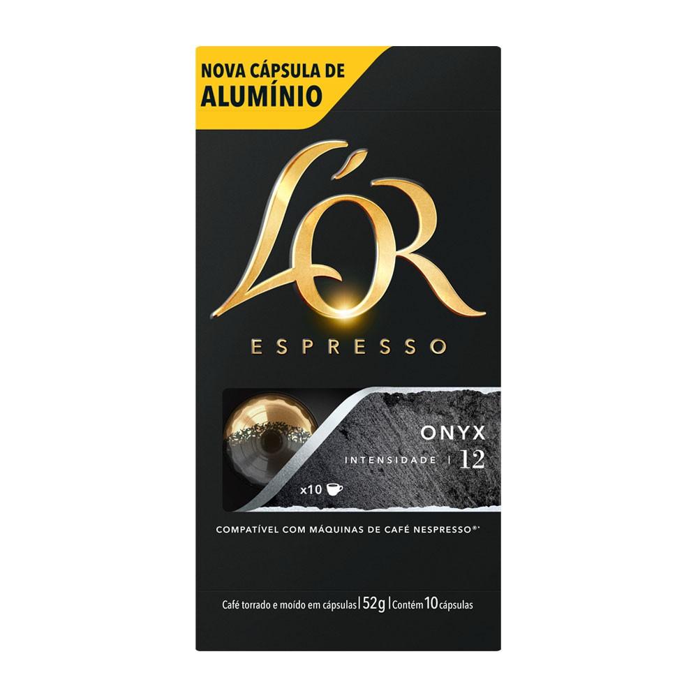 Cápsulas de Café L'or Onyx - Compatíveis com Nespresso® - 10 un.