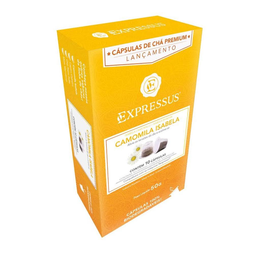 Cápsulas de Chá Expressus Camomila Isabela - Compatíveis com Nespresso® - 10 un.