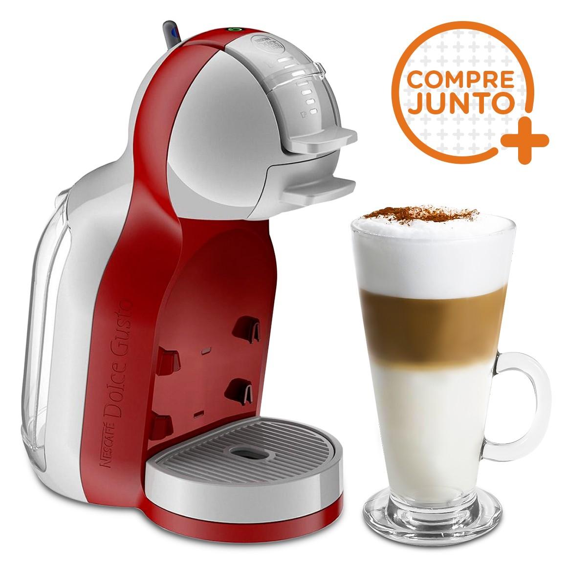 Cafeteira Expresso Dolce Gusto Mini Me Automática Vermelha 220v + 1 Taça de Café 250ml