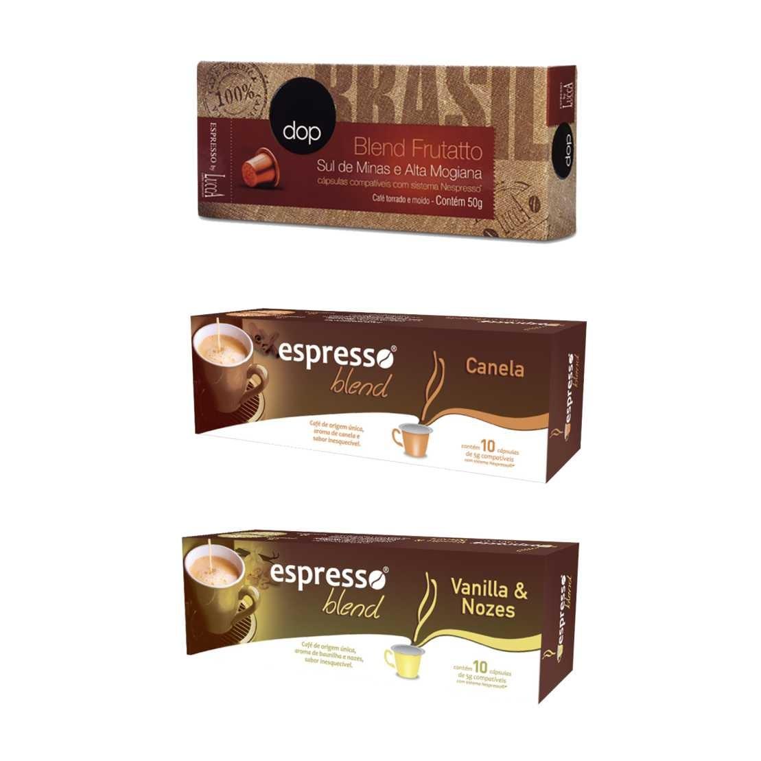 Kit Cafés Aromas Especiais - 30 Cápsulas Compatíveis