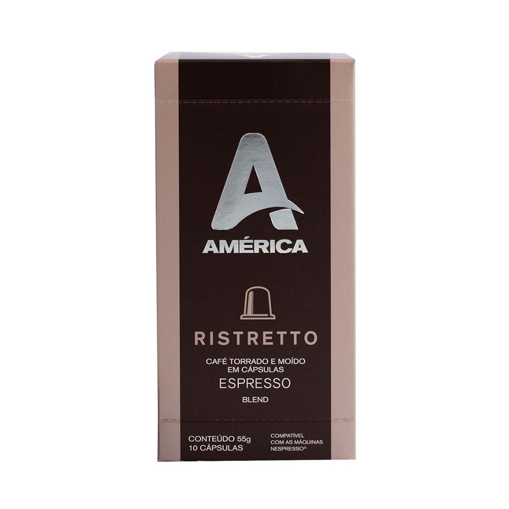 Cápsulas de Café América Ristretto - Compatíveis com Nespresso® - 10 un.