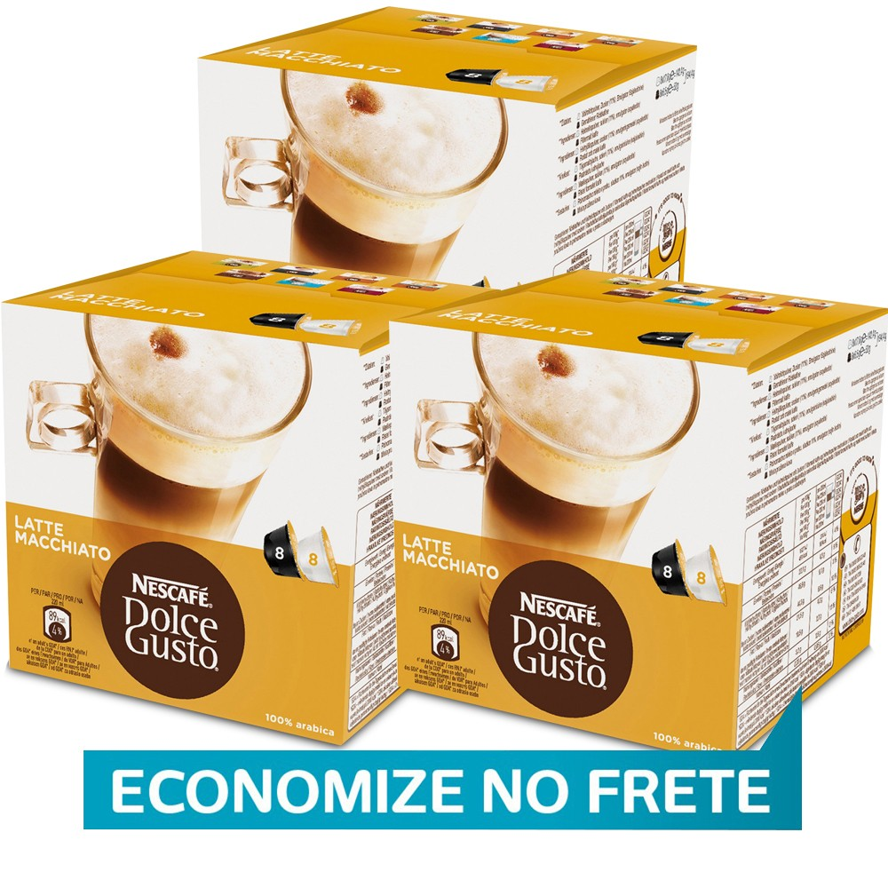 Kit 48 Cápsulas Nescafé Dolce Gusto Latte Machiatto - Nestlé