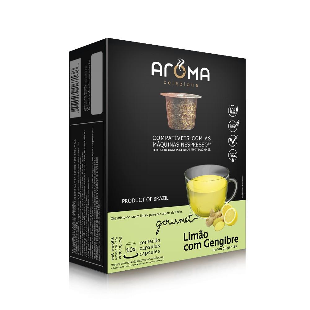 Cápsulas de Chá Limão com Gengibre Aroma - Compatíveis com Nespresso® - 10 un.