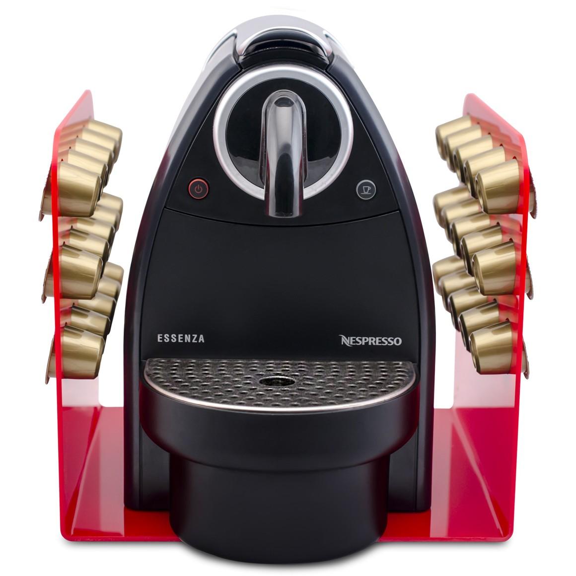 Porta Cápsula Acrílico Nespresso Vermelho - 30 un.