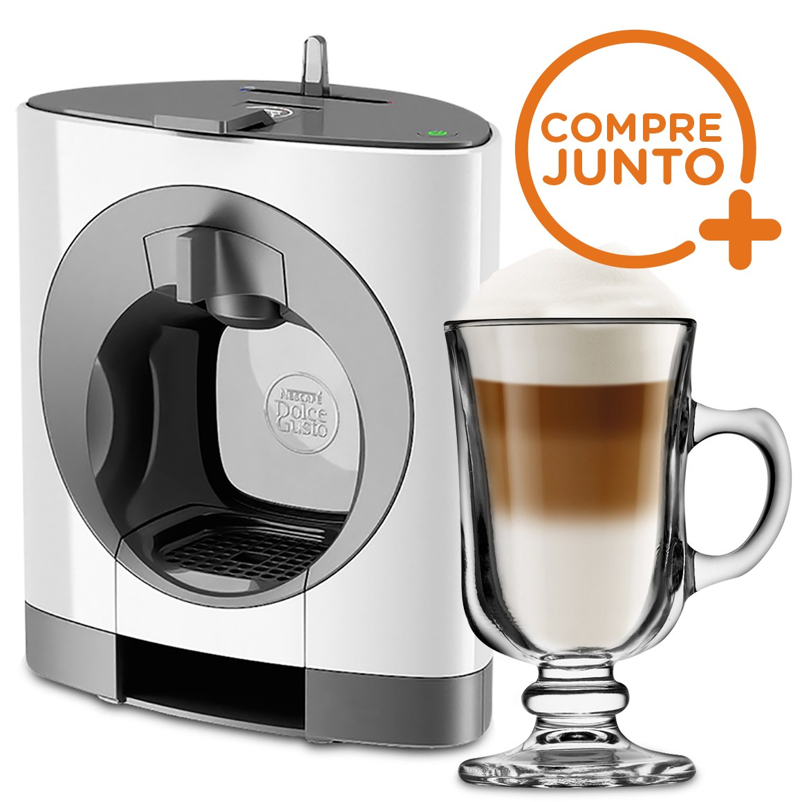Cafeteira Expresso Dolce Gusto Oblo Branca 220v + 1 Taça de Café Mini Bill 120ml