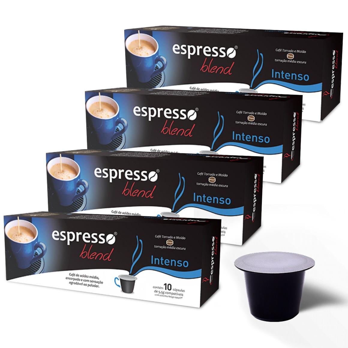 Kit Cápsulas de Café Compatíveis com Nespresso Espresso Blend Intenso - 40 un.