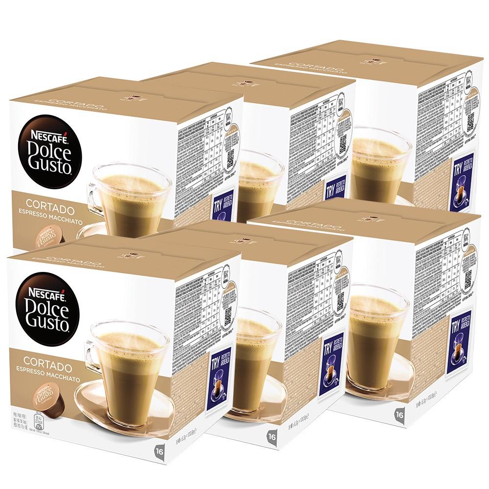 Kit 96 Cápsulas Nescafé Dolce Gusto Cortado - Nestlé