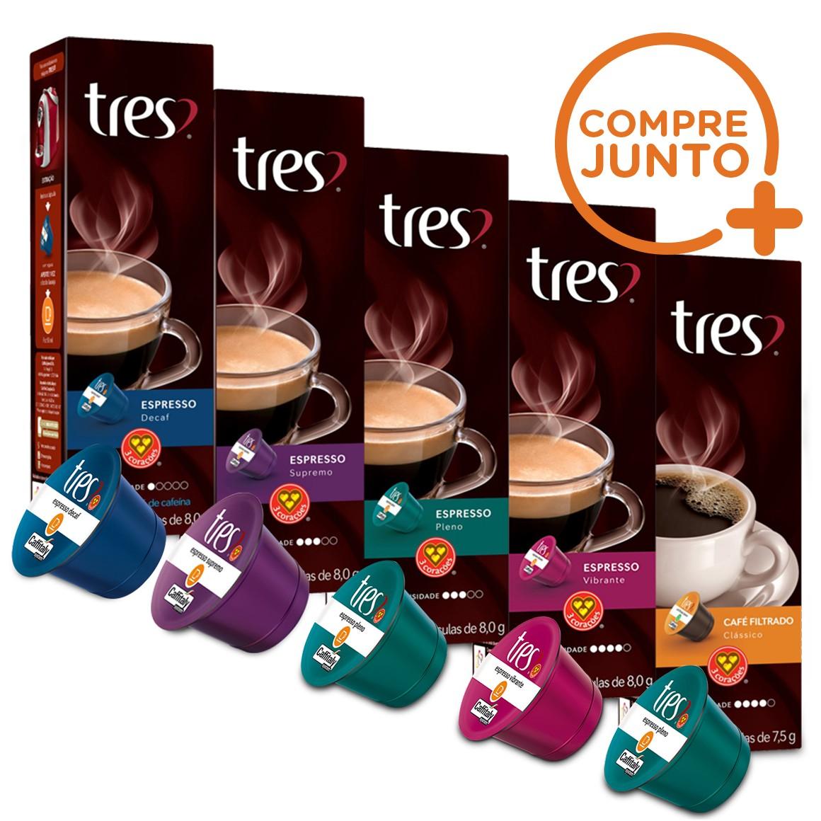 Kit Cápsulas Três Corações Espressos - 50 Cápsulas