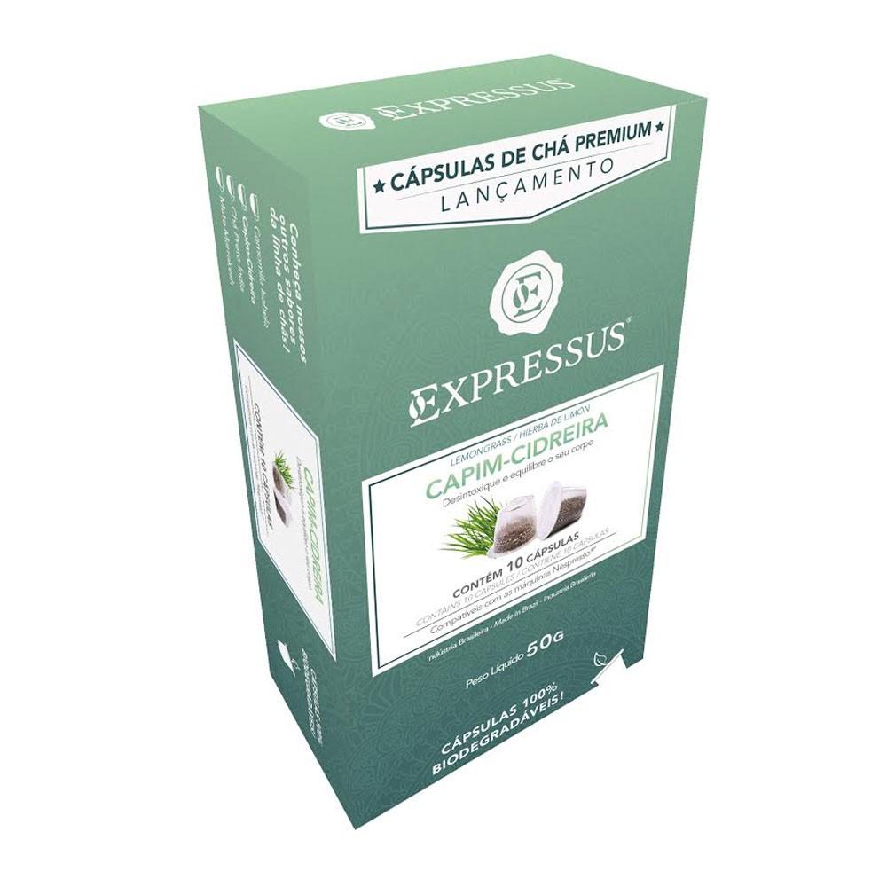 Cápsulas de Chá Expressus Capim - Cidreira - Compatíveis com Nespresso® - 10 un.