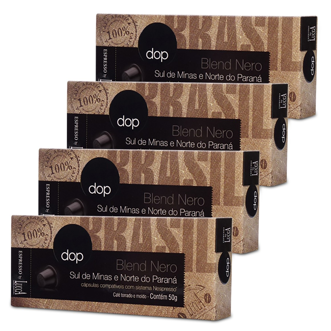 Kit Cápsulas de Café Compatíveis com Nespresso Dop Blend Nero 40 un