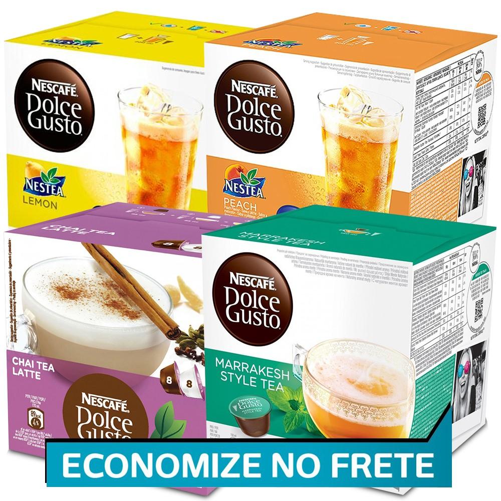 Kit 64 Cápsulas Nescafé Dolce Gusto Chás - Nestlé
