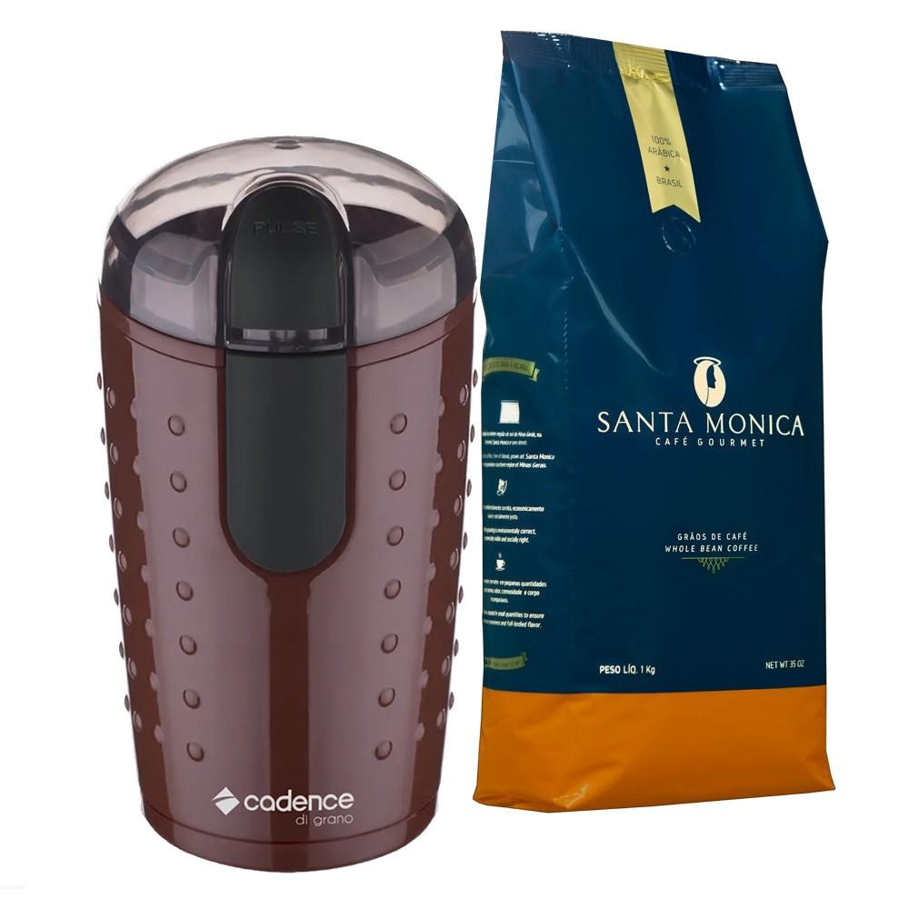 Moedor de Café Di Grano + Café em Grãos Santa Monica 1kg