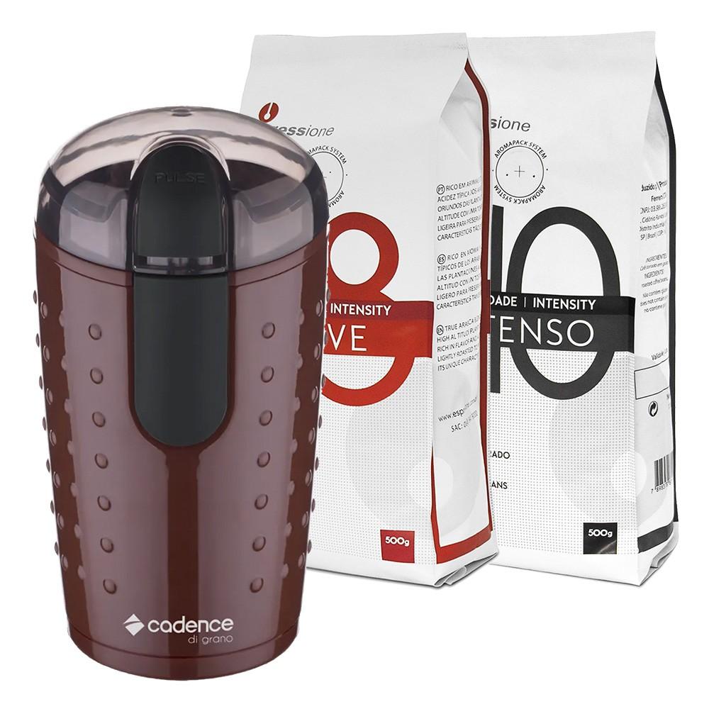 Moedor de Café Di Grano + Café em Grãos Espressione 1kg