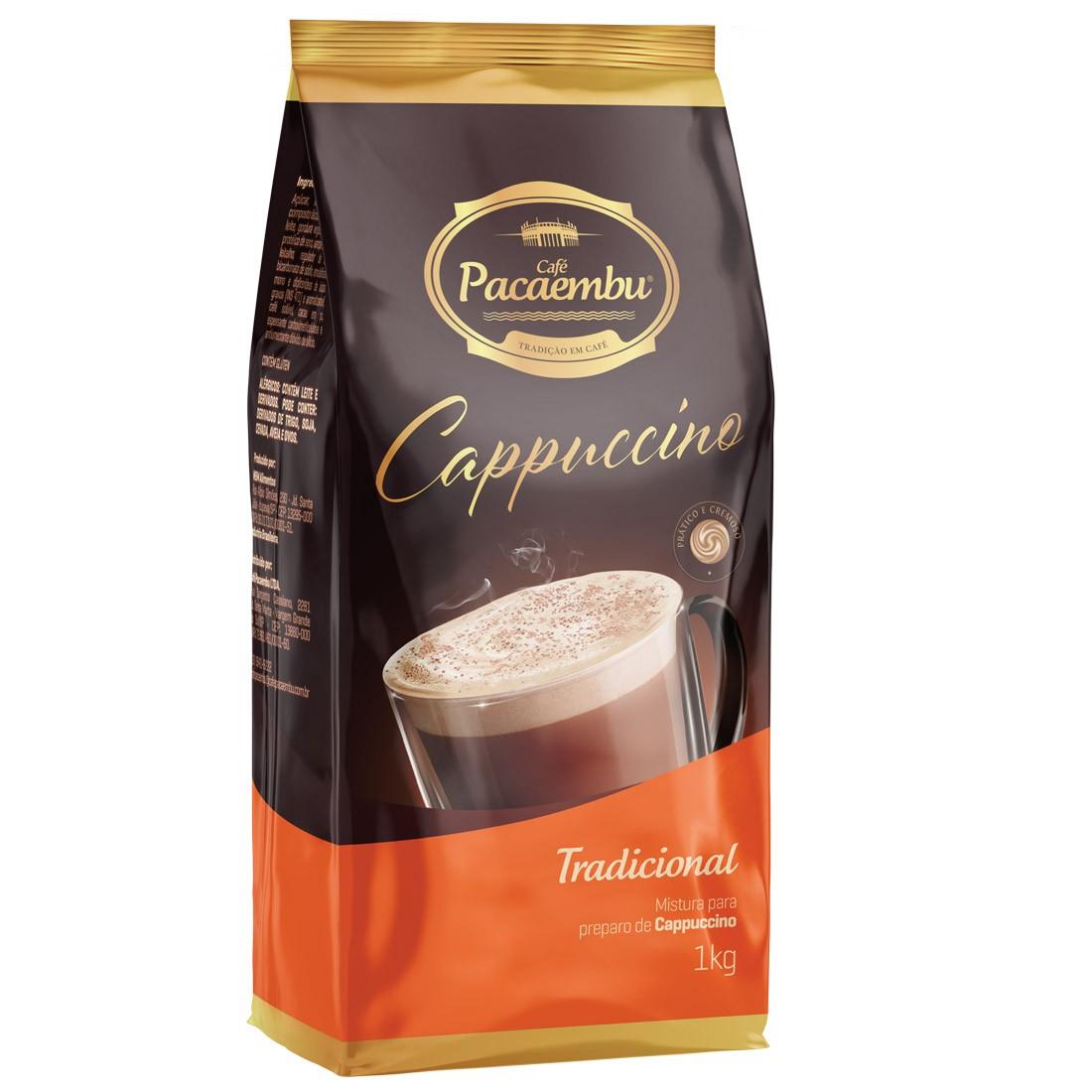 Cappuccino Solúvel Tradiconal Pacaembu 1kg