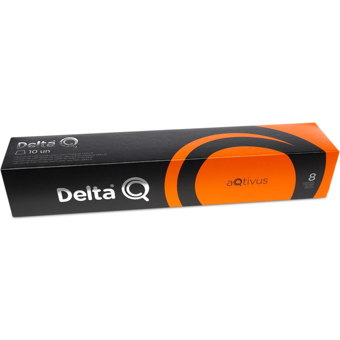 Cápsula de Café Delta Q Aqtivus Intensidade 8 - 10 Cápsulas