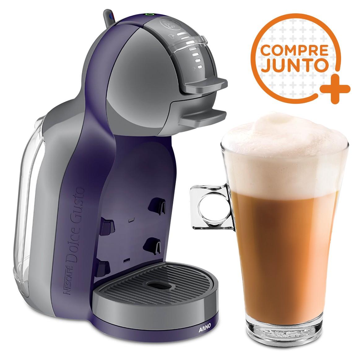 Cafeteira Expresso Dolce Gusto Mini Me Automática Roxa 220v + 1 Taça de Café Dolce Gusto 268ml