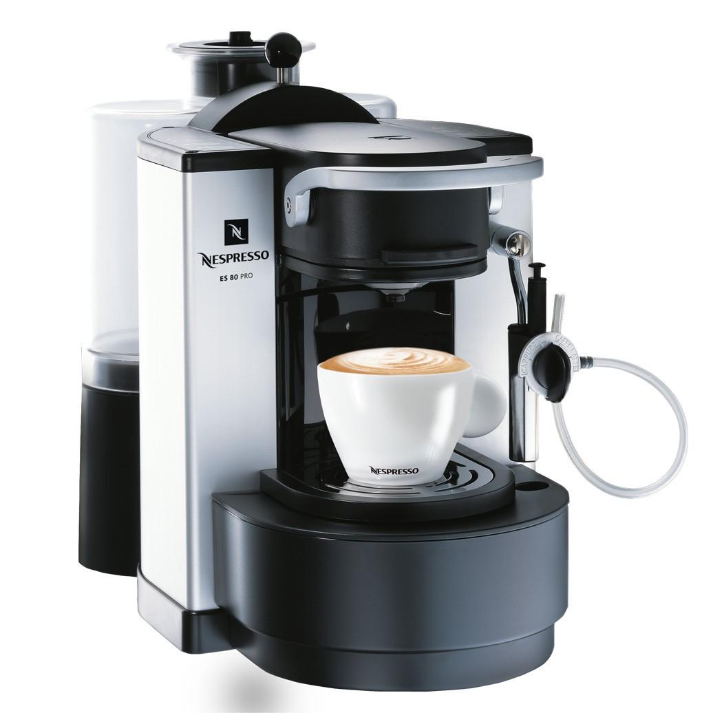 Máquina de Café Expresso Profissional Nespresso ES 80 Branco e Preto